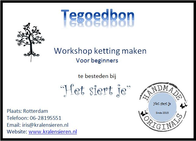 tegoedbon workshop voor beginners