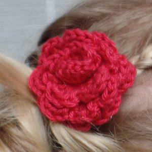 hip haarspeldje met gehaakt bloemetje