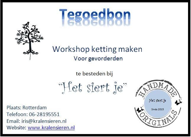 tegoedbon workshop voor gevorderden